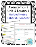 Saber vs. Conocer Guided Notes for Students *EDITABLE*