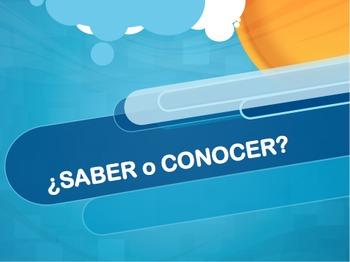 Saber vs. Conocer Slideshow Practice (Saber or Conocer)