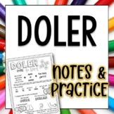 Doler Spanish Doodle Pages Worksheets and Notes