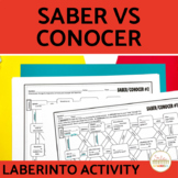 Saber vs Conocer Spanish Laberinto Practice Activity
