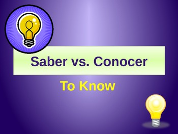 Saber y Conocer - To Know