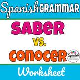 Saber Conocer worksheet