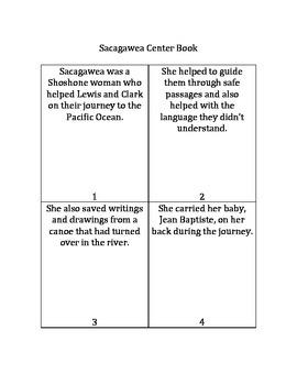 Sacagawea Center Activity