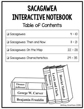 Sacagawea Interactive Notebook (1st Grade)