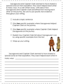 Sacagawea--Writing Prompt-Jouneys Grade 4-Lesson 20