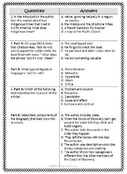 Sacagawea (Journeys 4th Grade Supplemental Materials)
