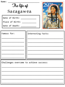 Sacagawea Organizer