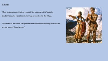 Sacagawea - Power Point Life Story lewis and clark information facts pictures