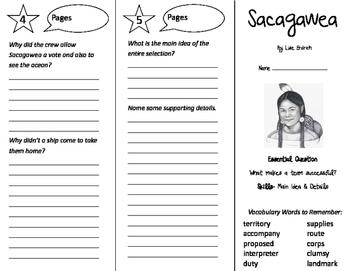 Sacagawea Trifold - Journeys 4th Grade Unit 4 Week 5 (2011)