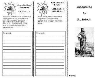 Sacagawea Trifold/ Journeys HMH Common Core