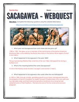 Sacagawea - Webquest with Key