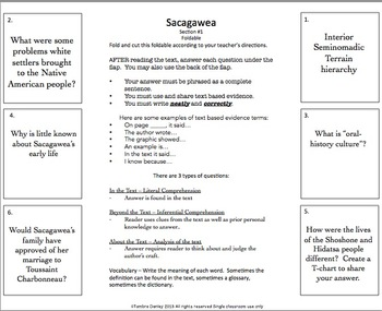 Sacajawea Biography Unit
