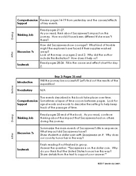 Sacajawea: Her True Story Guided Reading Plan (Level N)