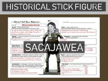 Sacajawea Historical Stick Figure (Mini-biography)