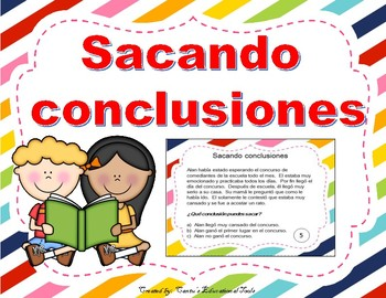 Sacando Conclusiones 3 - Drawing Conclusions Task Cards - Spanish