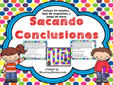 Sacando Conclusiones - Drawing Conclusions SPANISH Task Cards