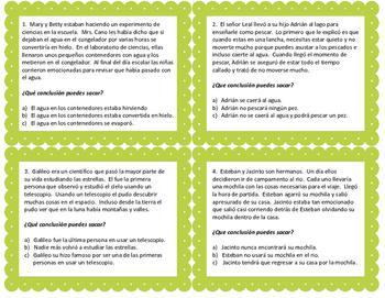 Sacando Conclusiones - Drawing Conclusions - Spanish