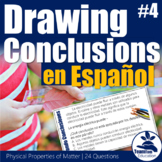 Sacando Conclusiones - Drawing Conclusions Task Cards 4 (Spanish)