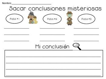 Sacar conclusiones/ drawing conclusions