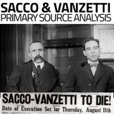Sacco & Vanzetti Primary Source Analysis(Red Scare)