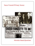 Sacco and Vanzetti Stimulus Based Questions