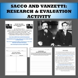 Sacco and Vanzetti research and evaluation