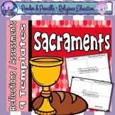 Sacrament Reflections, Assessments or Portfolios - Eucharist, Baptism and more
