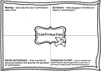 Sacrament Worksheets - Baptism, Eucharist, Confirmation, Reconciliation and more