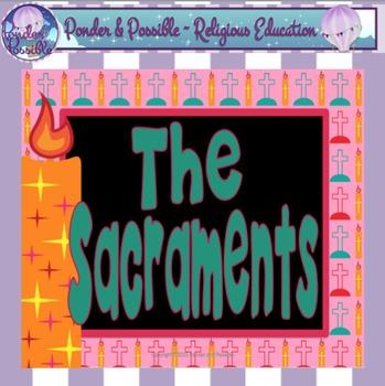 Sacrament Worksheets - Baptism, Eucharist, Confirmation, R