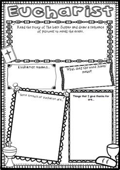 Sacrament Worksheets - Baptism, Eucharist, Confirmation, Reconciliation