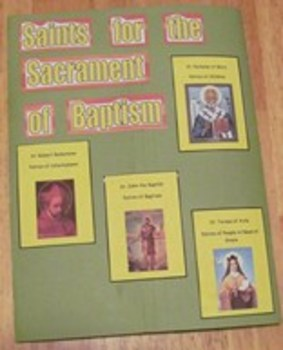 Sacrament of Baptism Catholic Lapbook