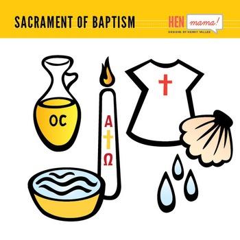 Sacrament of Baptism Clip Arts