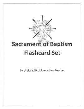 Sacrament of Baptism Flashcard Set