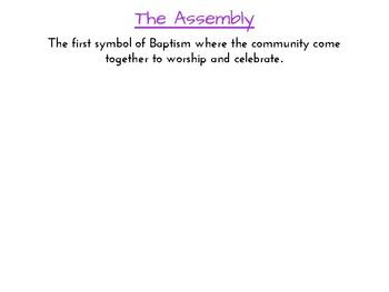 Sacrament of Baptism - Order of the Mass Task Card
