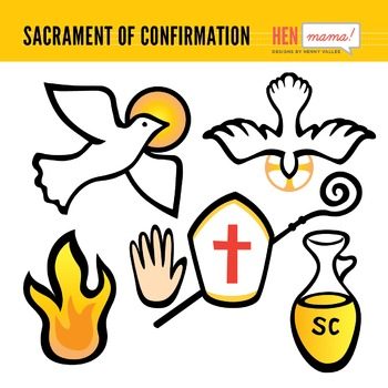 Sacrament of Confirmation Clip Arts by HenMama Designs | TpT
