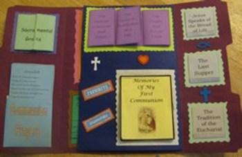 Sacrament of Holy Eucharist Catholic Lapbook