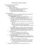 Sacrament of Holy Eucharist - Comprehensive Outline