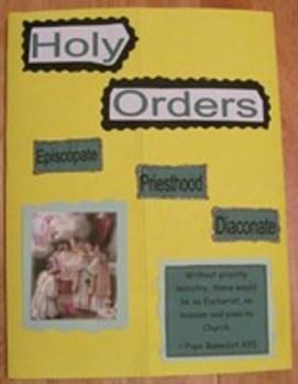 Sacrament of Holy Orders Catholic Lapbook
