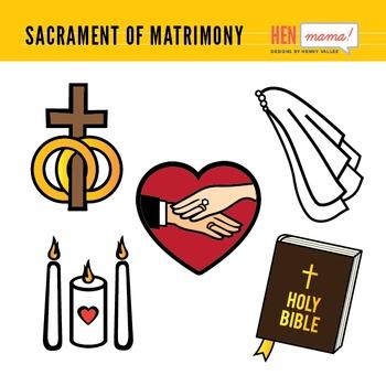 Sacrament of Matrimony Clip Arts