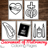 Sacrament of Matrimony Coloring Pages : No Prep Catholic Activity