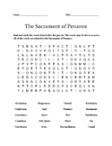 Sacrament of Penance Word Search