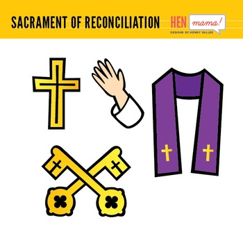 sacrament of reconciliation confession clip art by henmama designs rh teacherspayteachers com reconciliation clipart images