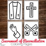 Sacrament of Reconciliation Coloring Pages : No Prep Catholic Activity