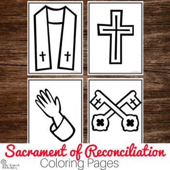 Catholic Sacrament Coloring Pages : No Prep Catholic Activity -  Reconciliation