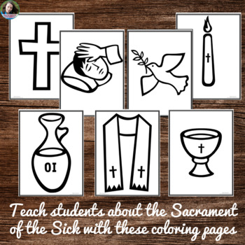 Sacrament of the Sick Coloring Pages - No Prep Catholic Activity