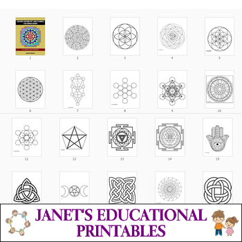 Sacred Geometry and Symbol Coloring Book
