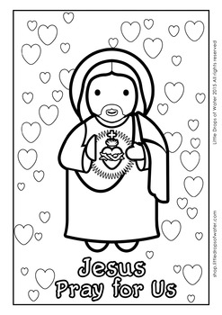 Sacred Heart of Jesus Coloring - Catholic