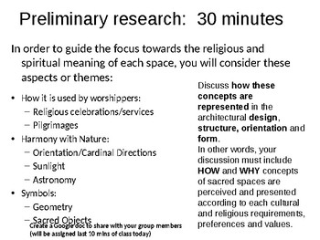 Sacred Space Academic Conversation (Research & Group Discussion) Activity