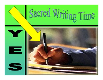 Sacred Writing Time Expectations for MAISA Launching Writer's Notebook