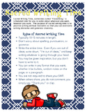 Sacred Writing Time (Freewriting) Anchor Chart